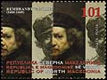 Macedonia new post stamp 350 death anniversary of Rembrandt