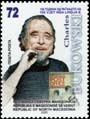 Macedonia new post stamp 100th birth anniversary of Charles Bukowski