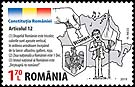 Romania new post stamp Romanian Constitution